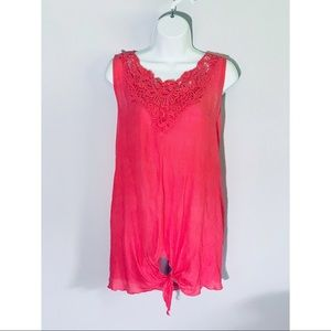 Spense 1X Coral Sleeveless Top